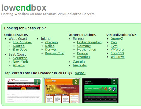 low end box VPS