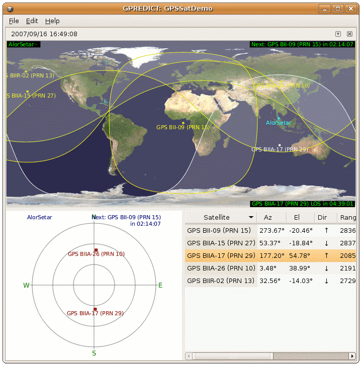 Track Satellites in Real-Time on the Sky with GPredict - mypapit gnu
