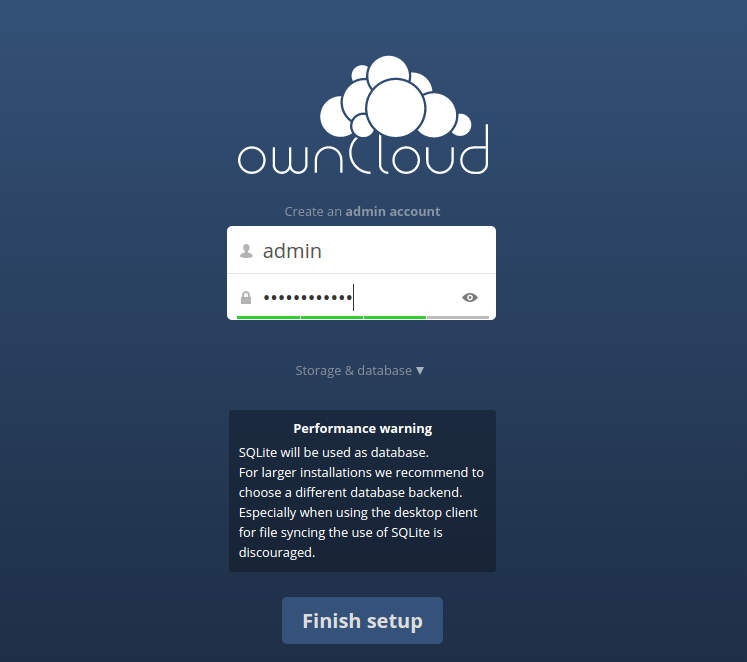 setup-owncloud-first