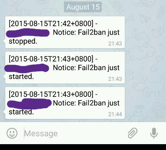 telegram-fail2ban